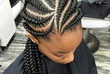 Braided hair styles
