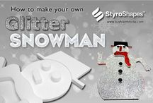 DIY Crafts with StyroShapes / Easily decorate these #DIY fantastic foam cutouts that you can use in a wide variety of arts & crafts projects, decorations, and more. http://www.buyfoamblocks.com/ #Styrofoam #ornaments #crafts