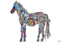 Illustration / animal illustration recycled paper