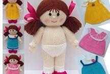lalki na drutach i szydełku