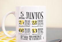 Regalos aniversario / Regalos personalizados para celebrar aniversarios