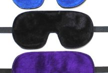 Bondage Blindfolds / Beautiful fur lined or leather lined leather bondage blindfolds. Several styles and many colours. Rubber blindfolds also available.