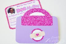 Doc McStuffins Inspired Party / Eccentric Designs by: Latisha Horton Doc McStuffins party theme is sure to bring a smile to your little princess face. This full color/high-resolution digital party has you covered from A to Z! Items available for this theme include: Invitation   Thank You Note   Cupcake Wrappers   Cupcake Toppers   Placecards   Popcorn Box/Snack Box   Favor Bag Stickers/Labels   Water Bottle Labels   Hershey Bar Wrappers   For Additional Inquiries: eccentricdesignstudio@live.com