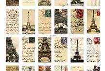 """Ramka """"Paris"""" / Inspiracje do stworzenia pamiątkowej ilustracji scrapbookowej w białej ramce kwadratowej"""