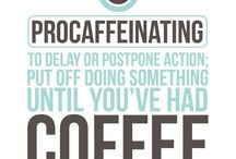 Coffee quote project / mood board for hand-lettering project  / by Alexia