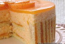 Абрикосовый торт суфле