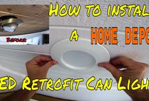 How to install a Home Depot LED Retrofit Can Light