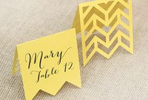 Place cards / escort cards