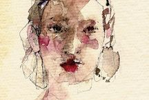 Watercolour portraits