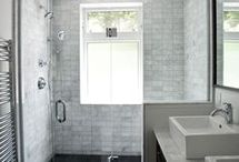Ensuite Renovation / Slate, Onyx and Snow