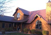 Western Rust / Steel Metal Roofing. Western Rust. Rustic Charm. Log Cabins. Mountain Homes.