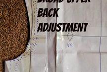 Pattern adjustments