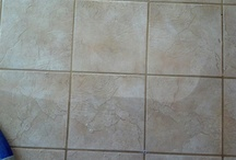 Tile and Grout Cleaning / Tile and grout cleaning jobs. Before and After pictures