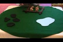 Godly Play stories and response activities / Godly Play stories using story figures.