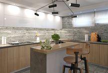 Наши работы: Дизайн кухни / Дизайн проекты кухонь в разных стилях. Автор проектов Елена Агафонова