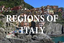 The Regions of Italy / All the beautiful places to see and enjoy in Italy from the highest mountains to the islands in the Mediterranean Sea.