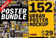 20+ Amazing Urban Poster Mockups PSD