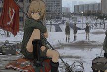 戦車と女の子