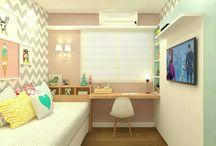 lány és fiú szobák