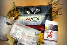 Avex Steel Products / Our company's stuff, pictures of production, pallets and marketing ideas.
