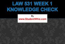 LAW 531 Week 1 Quiz
