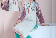 Doha embroidered lawn kurtis collection