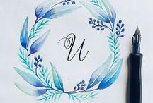 μπλε στεφάνι λουλουδια