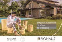 Biohaus & Geox / Biohaus e Geox insieme: eleganza sostenibile da vivere, da indossare