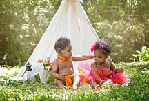 Outdoor baby and kids photography