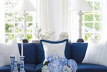 ••• I N S P I R A C J E ••• Livingroom white&blue