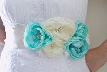 flowers for bridal sashes / Sometimes a pop of color, or a bit of texture is needed for the WOW factor.