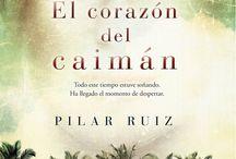 EL CORAZÓN DEL CAIMÁN de Pilar Ruiz y Ediciones B / Corre el año 1897 y Ada recibe la noticia de la desaparición en combate de su marido, Víctor, un militar español. Sin embargo, está convencida de que sigue vivo, y se dispone a buscarlo a través de una guerra y una isla en forma de caimán; la isla es Cuba, y la guerra, la de la Independencia http://www.edicionesb.com/catalogo/autor/pilar-ruiz/1205/libro/el-corazon-del-caiman_3267.html