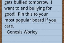 Stop bullying / A group board for people who want to get the word around of how horrible bullying is! Follow to be added, add people to help get the word around!
