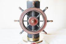 Ship wheel lamp