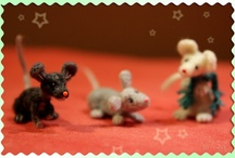 Felted Mice are waiting for Christmas