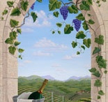 Wall Murals for Wine Cellars - Outdoor Scene Murals / Wine Cellar Specialists