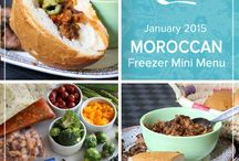 January in Morocco Mini Menu 2015 / From street foods like kefta meatballs to traditional harira soup and khobz bread the January in Morocco Mini 2015 Menu samples the melding of Mediterranean, Spanish and North African influences found in the exotic dishes of this coastal country. / by Once A Month Meals