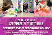 SEPTEMBER CLASS - CERTIFIED EVENT DECORATOR / Don't miss our September classes at Event Decorating Academy. Experience new ideas and designs to a whole new level. Calls us at 786-369-1723 for more details.