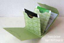 Cartonnage teabag pocket / Small pocket for teabags
