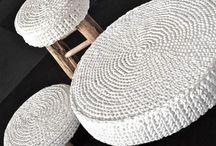 decorar banquinhos com croche