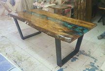 ola concept epoxy wood design