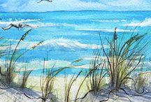 Aquarel Schilderij