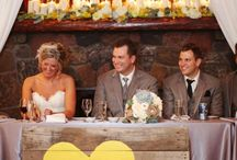 Head Table Decorations / The head table is the focal point of the reception and showcases the newlyweds and their wedding party. Dress up your head table as a reflection of your personality with these head table decorations and ideas. / by My Wedding Reception Ideas