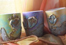 Mug art / *Baroque-Vintage-Provence-fashion* Unique handmade creations mug