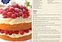 Recipes - desserts and cakes
