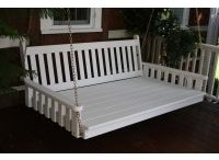 Swing Beds / Pine Ridge Online is the leading provider of Amish hand-crafted Swing Beds and Porch Swings. Choose from a variety of colors and styles. We carry Cedar, Pine & Poly.