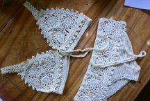 Biquínis em crochet