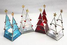 Tiffany üvegfigurák