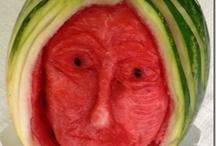 Intagli con frutta e verdura