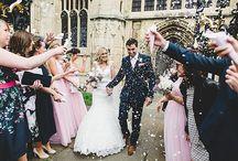 confetti shot / pretty wedding confetti